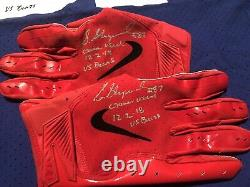 Sterling Shepard Auto Game Used Worn Jersey, Cleats And Gloves Vs Bears