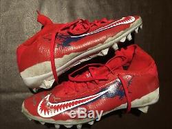 Sterling Shepard Auto Game Used Worn Jersey, Cleats And Gloves Vs Eagles
