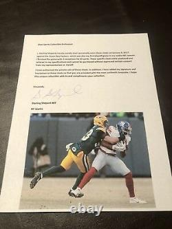 Sterling Shepard Rookie Auto Game Worn Used Playoff Cleats Signed Player Coa