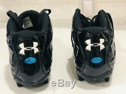 Steve Smith Game Used and Signed Cleats Carolina Panthers