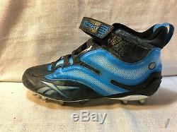 Steve Smith Signed Carolina Panthers Game Used Football Reevok NFL Cleats Pair