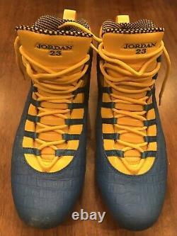 Thomas Davis LA Chargers Game Used Cleats Game Worn Cleats Nike Jordan Sz 14