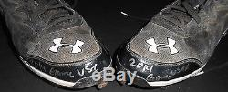 Tim Anderson White Sox Autographed Signed 2014 Game Used Cleats Spikes