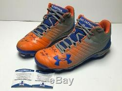 Todd Frazier Signed 2018 Game Used Mets Under Armour Baseball Cleats Beckett