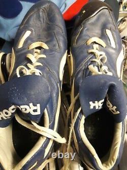 Tom Henke Texas Rangers Game Used Blue Cleats