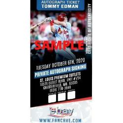 Tommy Edman St Louis Cardinals Autographed Game Used New Balance Cleats