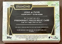 Topps Diamond Icons 1/1 Jose Altuve CLEAT With DIRT Game-Used Preeminent Relic