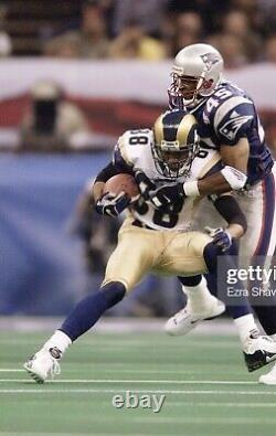 Torry Holt Game Used St Louis Rams Cleats Super Bowl Game Worn Jersey