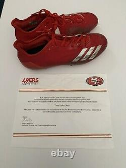 Trent Taylor San Francisco 49ers Game Used Cleats 49ers COA