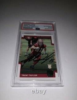 Trent Taylor San Francisco 49ers Game Used Cleats And Gloves Signed Card Slab