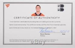 Trevor Siemian Broncos Autographed Game-Used Nike Cleats with Inscs Fanatics