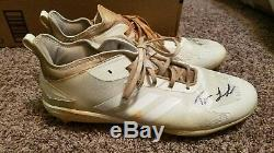 Trevor larnach game used cleats signed (mn twins)