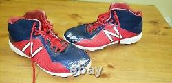 Tyler Flowers Atlanta Braves Game Used Autograph CLEATS MLB ALL STAR CATCHER