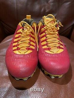 Tyrann Mathieu Chiefs Game Used Croc Jordan Promo Player Cleats Signed Coa