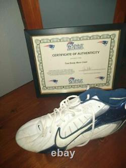 ULTRA RARE Tom Brady Game Worn Used Shoe Cleat New England Patriots COA