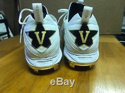 Vanderbilt Game Used 2019 College World Series Baseball Cleats Nike Mens 11.5