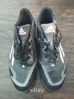 Victor Robles 2016 Game Used Adidas Signed & Inscribed Cleats ONYX COA