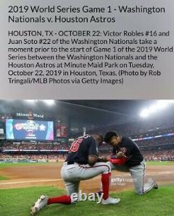 Victor Robles Nationals Game Used 2019 World Series Photomatched Cleats Game 1+6