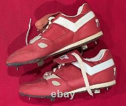 Vintage 1990's Mickey Morandini Phila Phillies Signed Game Used Baseball Cleats