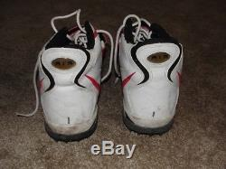 WARREN MOON GAME USED CLEATS CHIEFS, Hall of Famer! Oilers, Vikings