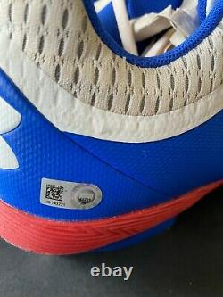 WILLSON CONTRERAS 2017 Game Used Signed Cleats Chicago Cubs/MLB COA