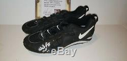 Wade Boggs New York Yankees Game Used Autograph Cleats Hof All Star