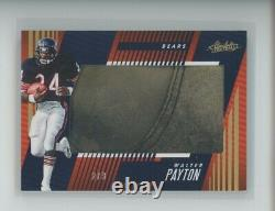 Walter Payton Game-used Shoe Patch /3 2018 Panini Absolute Cleats Sp Bears
