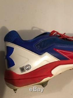 Wilson Contraras Chicago Cubs signed game used cleats