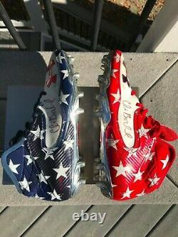 Wisconsin Badgers Chris Borland Game Used/Worn Cleats Senior Bowl 2014 49ers