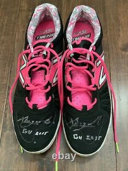 Xander Bogaerts 2015 GAME USED Mother's Day CLEATS pair autograph SIGNED Red Sox