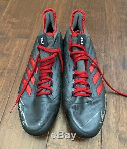 Xander Bogaerts 2019 GAME USED CLEATS signed AUTO worn Red Sox