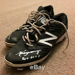 Xander Bogaerts Anderson Authentics Game Used Autographed Cleats 2016 Red Sox