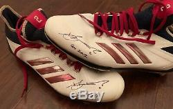 Xander Bogaerts GAME USED 2017 CLEATS signed WORN autograph Red Sox