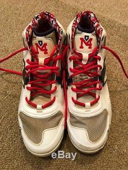 Yadier Molina Molina LOA PSA Guar Game Used Autographed Cleats 2016 Cardinals