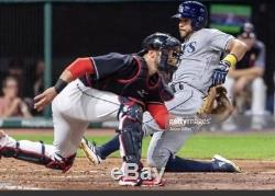Yan Gomes Cleveland Indians Game Used Cleats Washington Nationals Brazil MLB