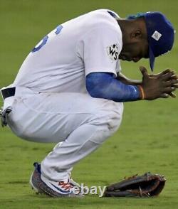 Yasiel Puig Dodgers Baseball Game Used Cleats Custom 66 2017 World Series