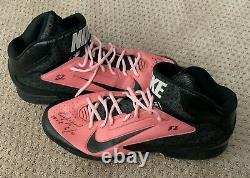 Yoenis Cespedes 2014 GAME USED Mother's Day CLEATS pair autograph SIGNED As